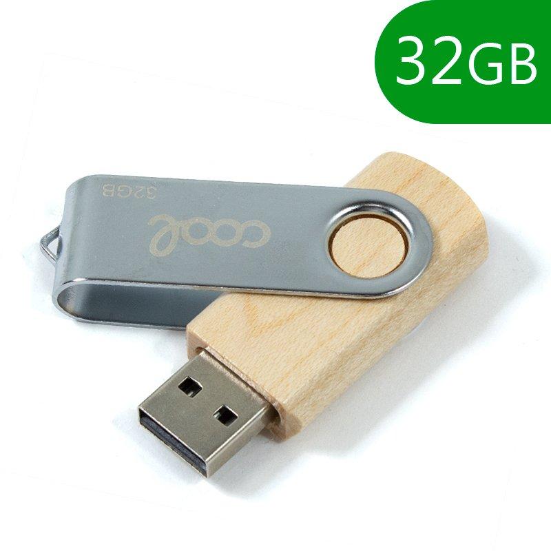 Pen Drive USB x32 GB 2.0 COOL Madera