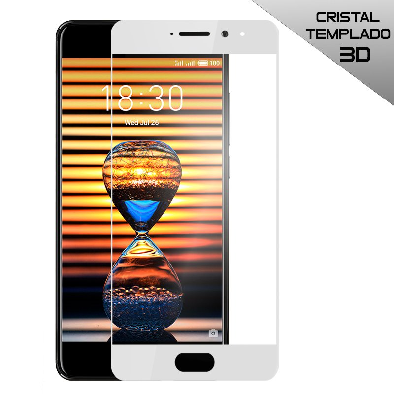 Protector Pantalla Cristal Templado Meizu Pro 7 (3D Blanco)