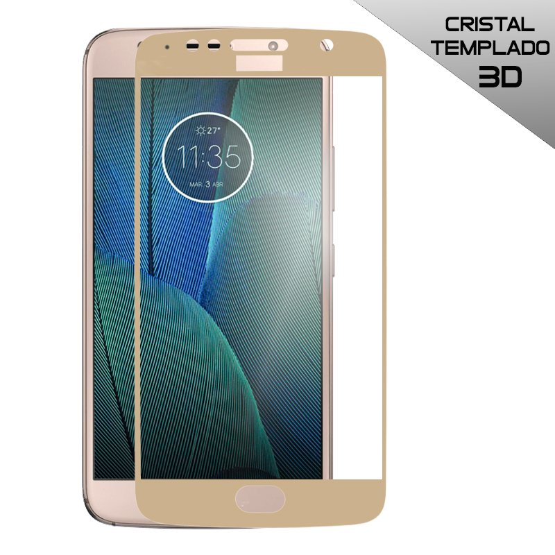 Protector Pantalla Cristal Templado Motorola Moto G5S Plus (3D Dorado)