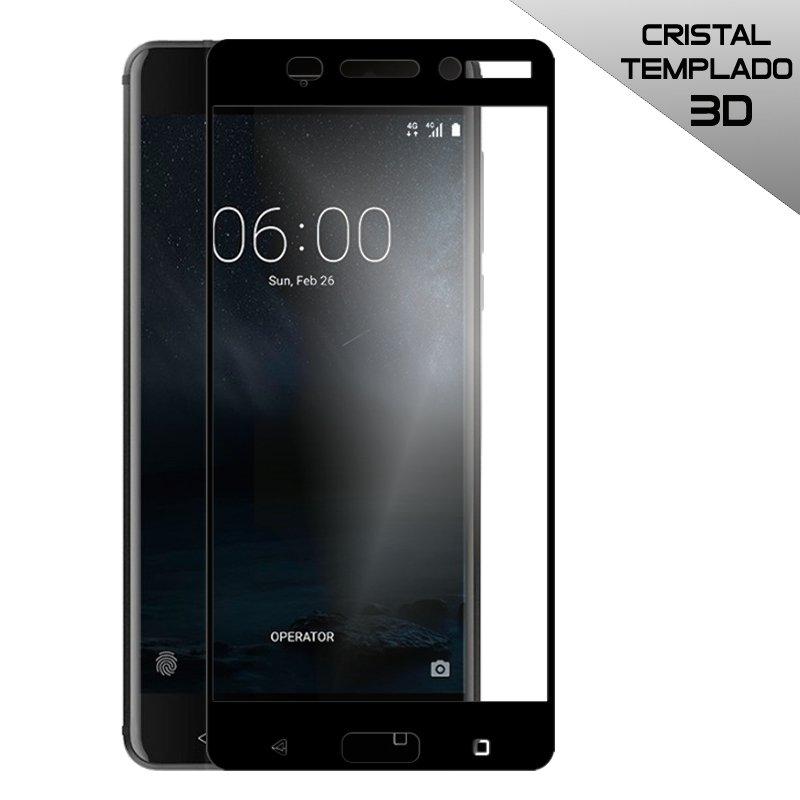 Protector Pantalla Cristal Templado Nokia 6 (3D Negro)
