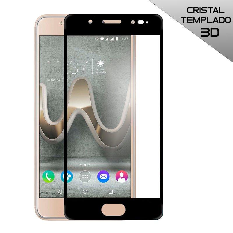 Protector Pantalla Cristal Templado Wiko U Feel Prime (3D Negro)