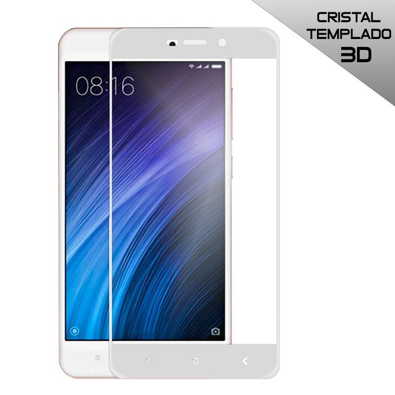 Protector Pantalla Cristal Templado Xiaomi Redmi 4A (3D Blanco)