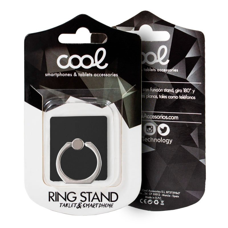 Soporte Ring Stand COOL Liso Gris