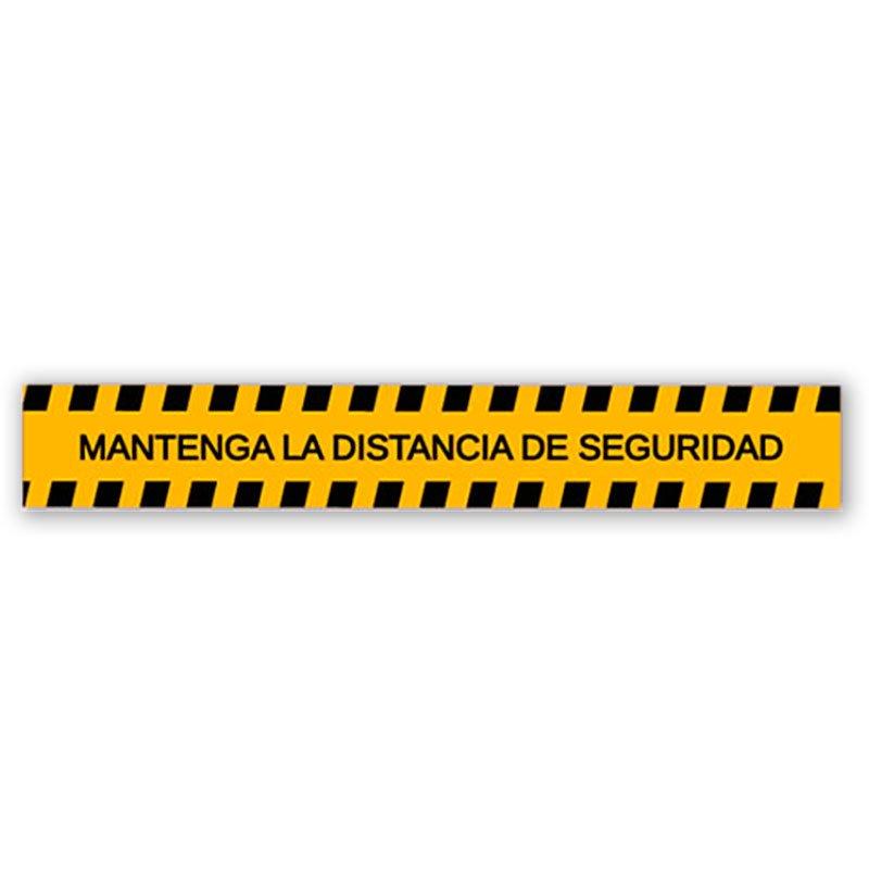 Vinilo Mantenga la Distancia de Seguridad (100 x 10 cm)