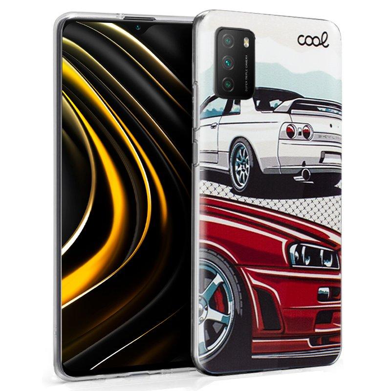 Carcasa COOL para Xiaomi Pocophone M3 / Redmi 9T Dibujos Cars