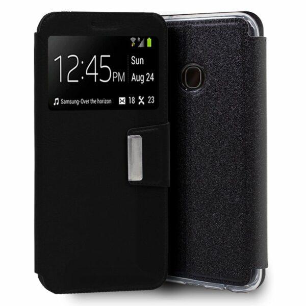 Funda COOL Flip Cover para Samsung A202 Galaxy A20e Liso Negro