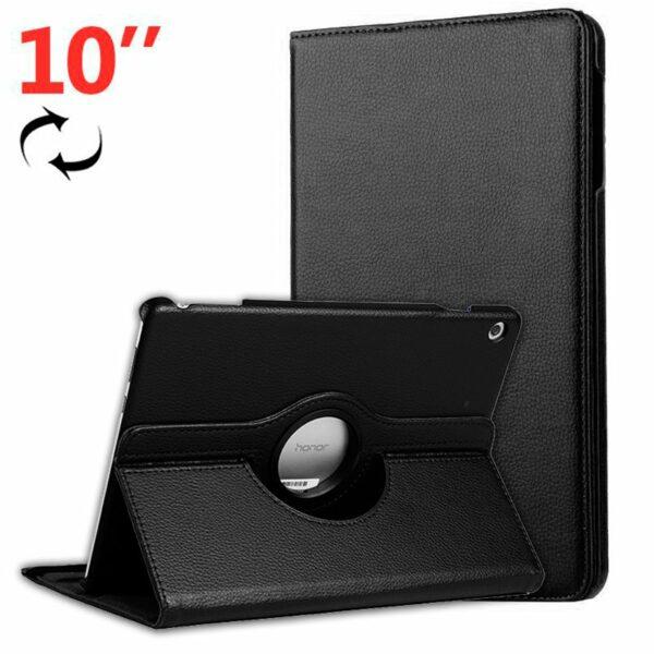Funda COOL para Huawei Mediapad T5 Polipiel Liso Negro 10.1 pulg