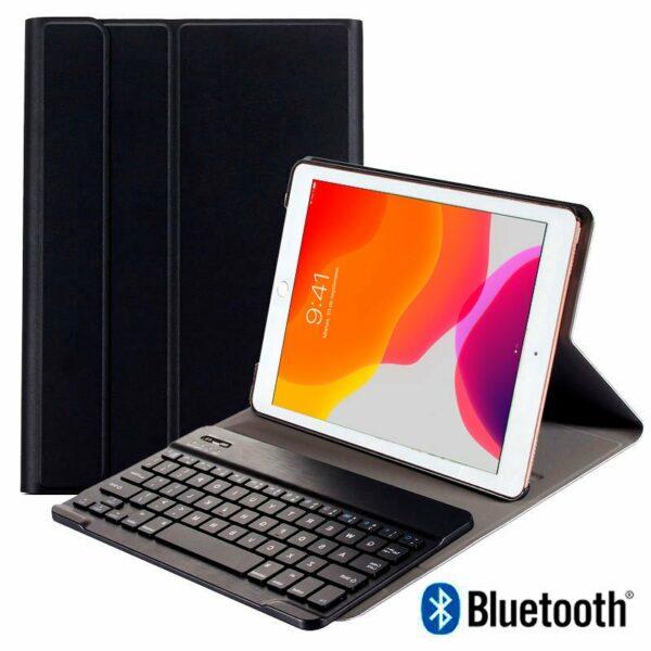 Funda COOL para iPad (2019 / 2020) de 10,2 pulg Polipiel Teclado Bluetooth (Negro)