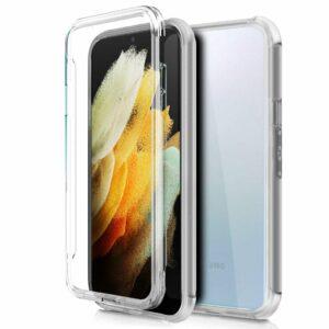 Funda COOL Silicona 3D para Samsung G998 Galaxy S21 Ultra (Transparente Frontal + Trasera)