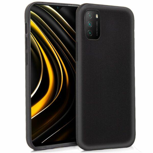 Funda COOL Silicona para Xiaomi Pocophone M3 / Redmi 9T (Negro)