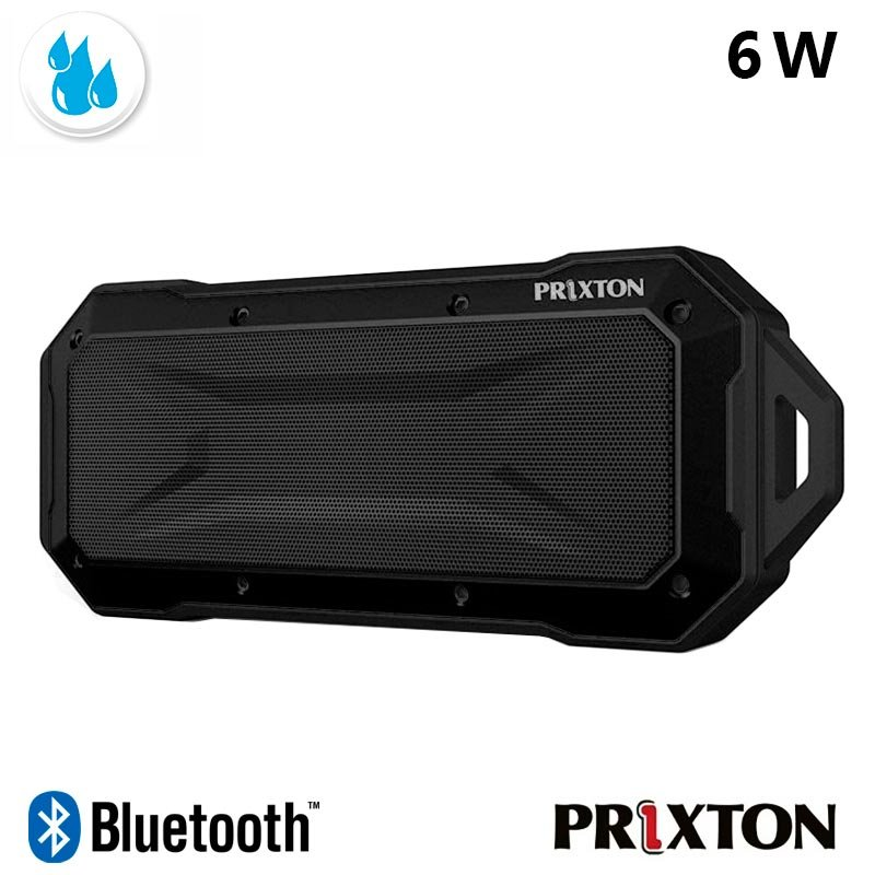 Altavoz Música Universal Bluetooth Black Prixton Waterproof IP67 Negro (6W)