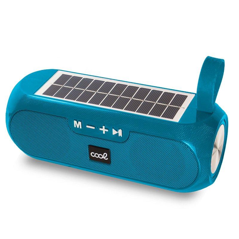 Altavoz Música Universal Bluetooth COOL Glasgow Aguamarina (10W) Con Panel Solar