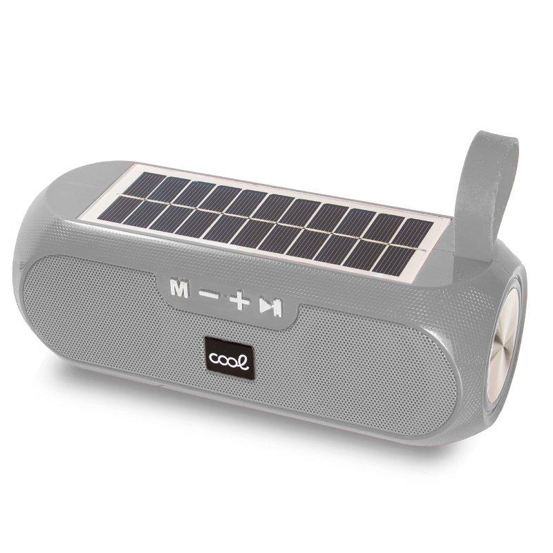 Altavoz Música Universal Bluetooth COOL Glasgow Gris (10W) Con Panel Solar