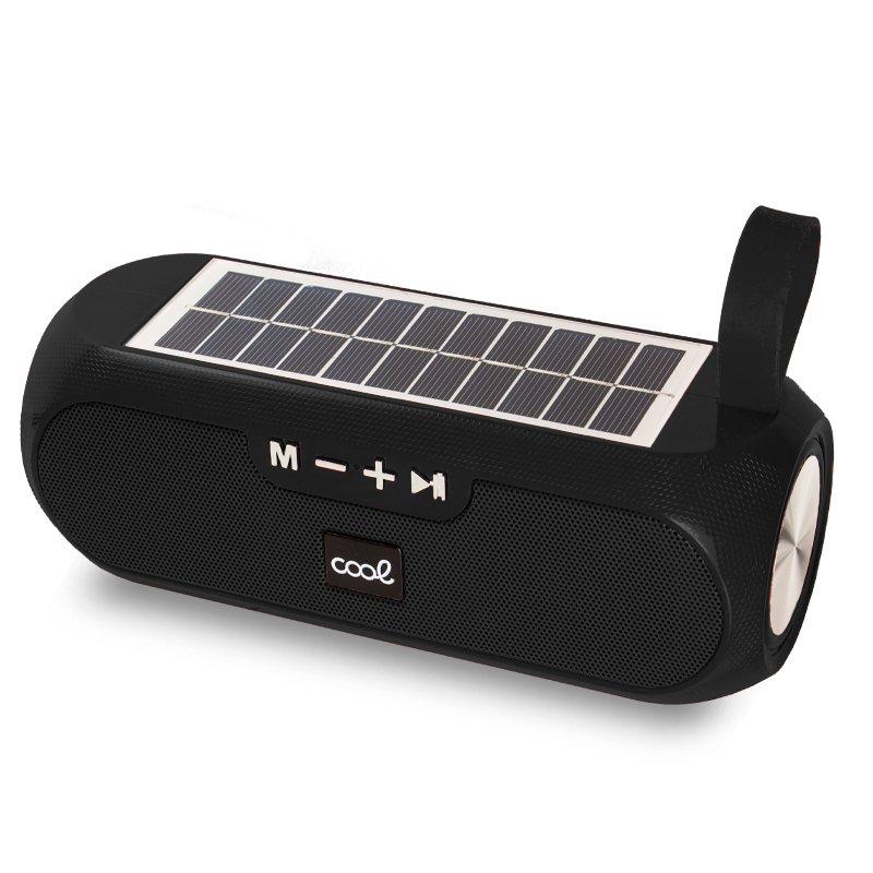 Altavoz Música Universal Bluetooth COOL Glasgow Negro (10W) Con Panel Solar