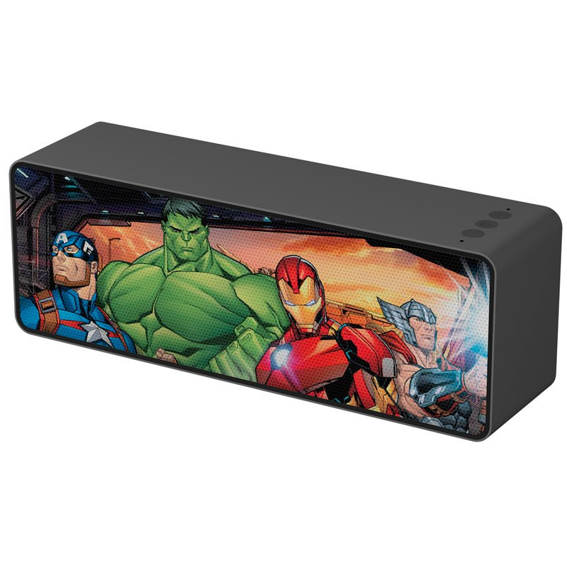 Altavoz Música Universal Bluetooth Licencia Marvel Avengers 10W Rectangular