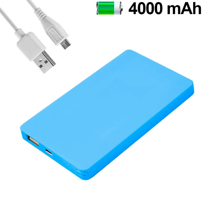 Bateria Externa Micro-usb Power Bank 4000 mAh Colour Basic Celeste COOL
