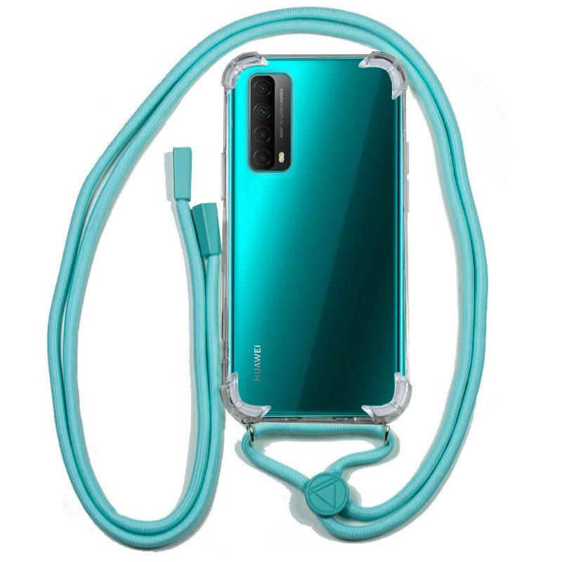 Carcasa COOL para Huawei P Smart 2021 Cordón Celeste