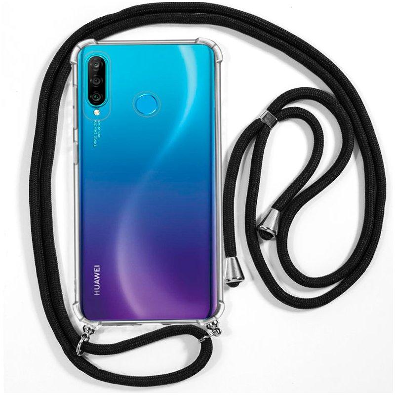 Carcasa COOL para Huawei P30 Lite Cordón Negro