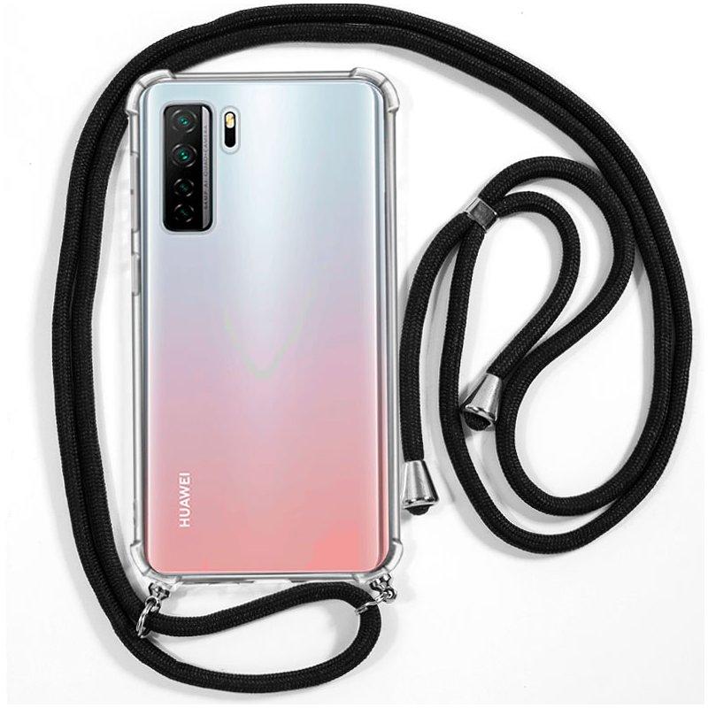 Carcasa COOL para Huawei P40 Lite 5G Cordón Negro