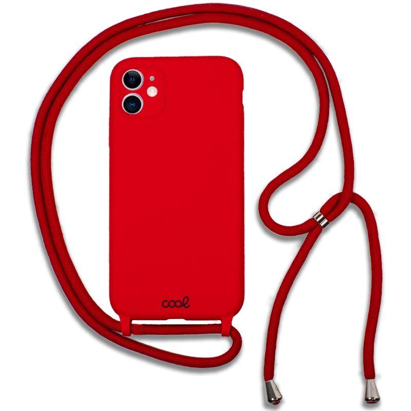 Carcasa COOL para iPhone 11 Cordón Liso Rojo