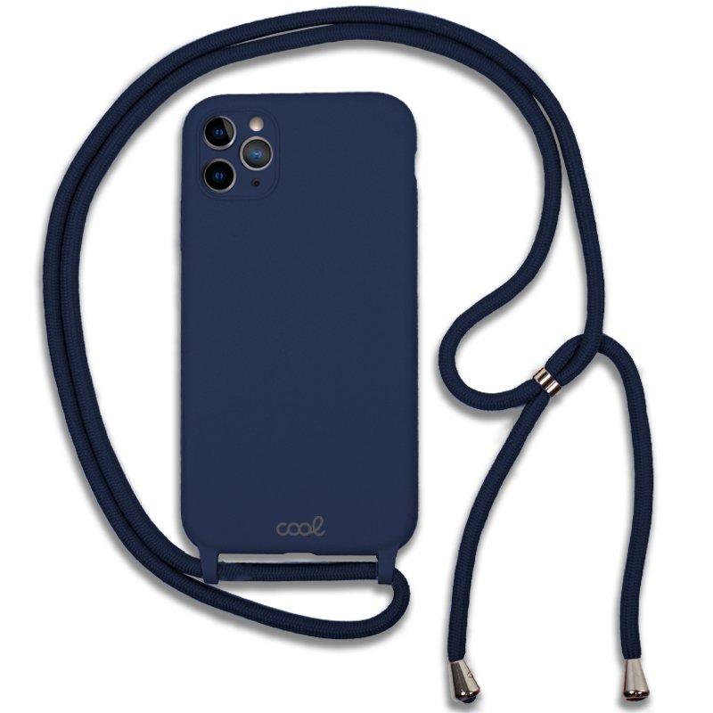 Carcasa COOL para iPhone 11 Pro Cordón Liso Marino