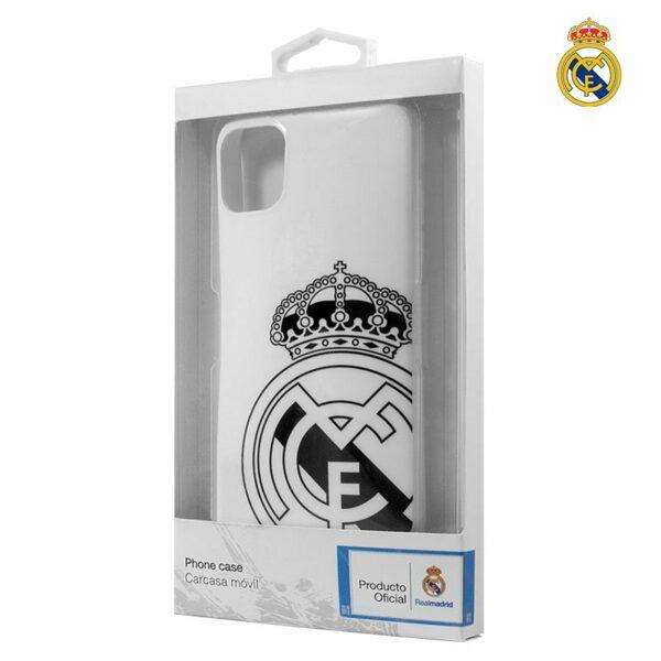 Carcasa COOL para iPhone 11 Pro Licencia Fútbol Real Madrid Blanca Escudo
