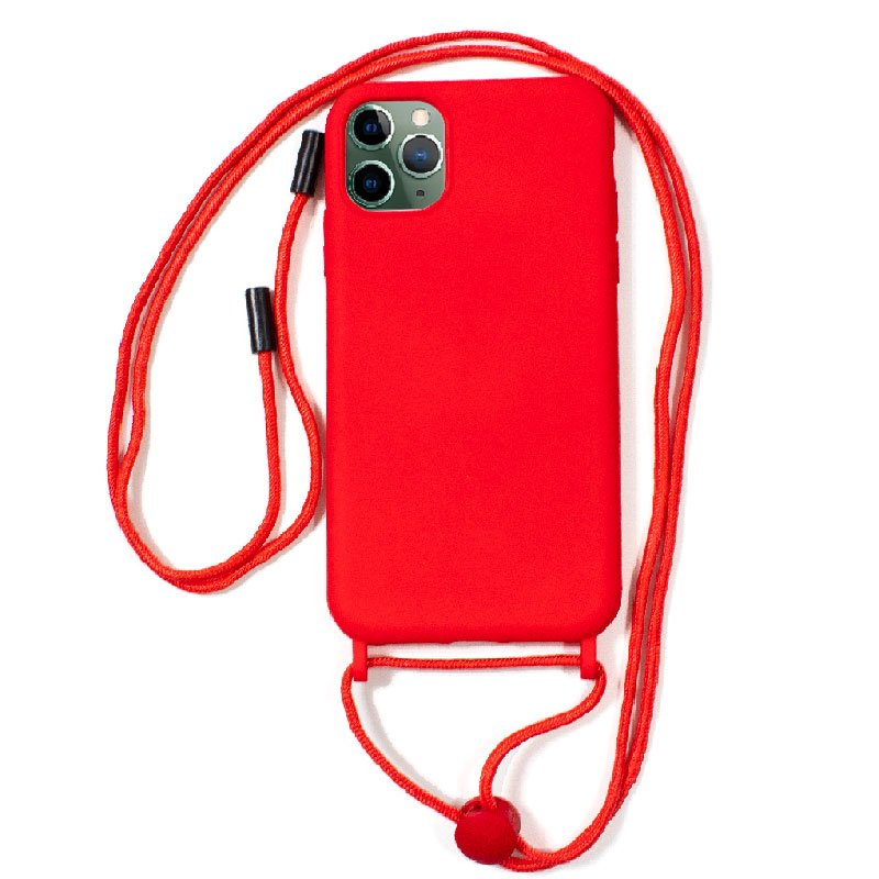 Carcasa COOL para iPhone 11 Pro Max Cordón Liso Rojo