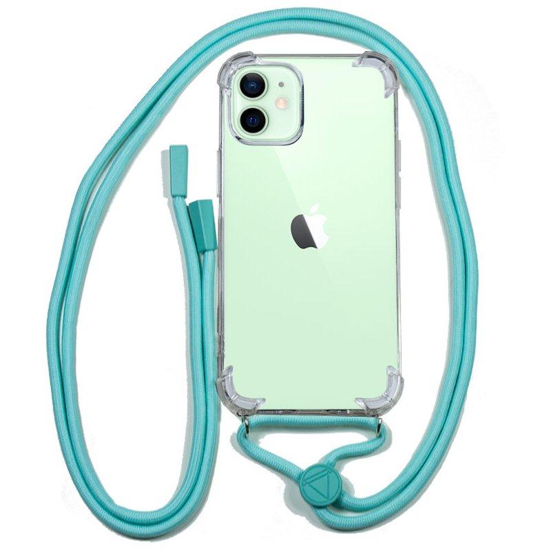 Carcasa COOL para iPhone 12 / 12 Pro Cordón Celeste