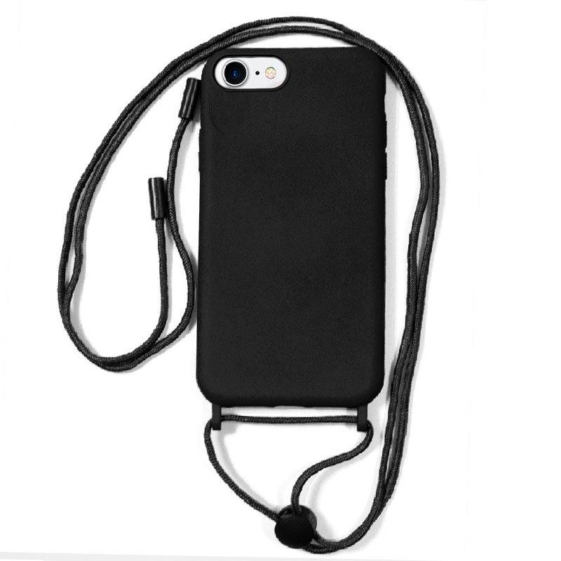 Carcasa COOL para iPhone 6 / 7 / 8 / SE (2020) Cordón Liso Negro