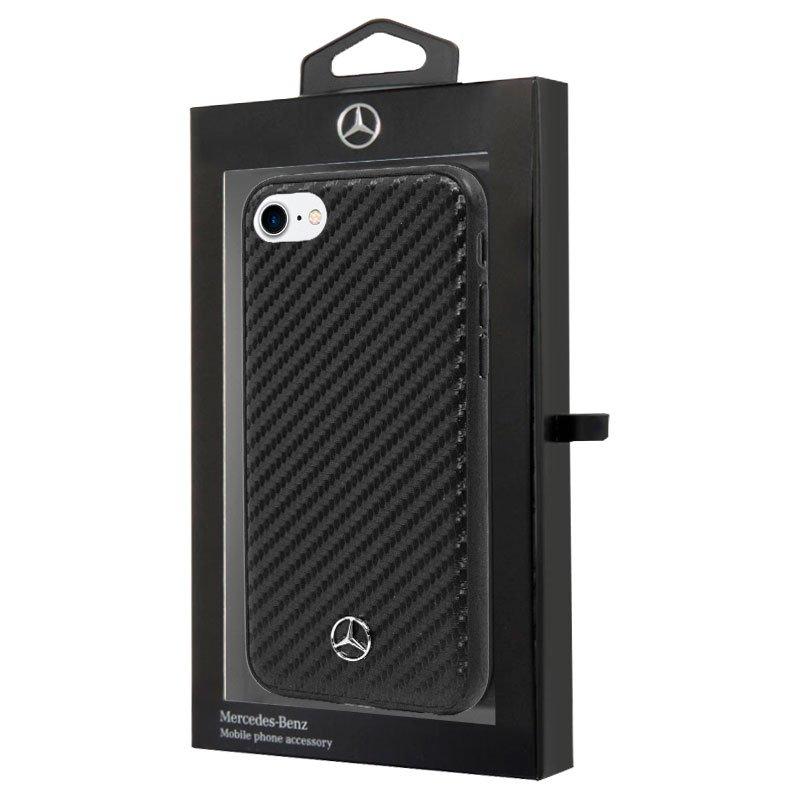 Carcasa COOL para iPhone 6 / 7 / 8 / SE (2020) Licencia Mercedes-Benz Carbón Negro