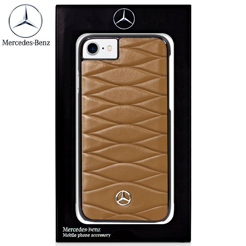 Carcasa COOL para iPhone 6 / 7 / 8 / SE (2020) Licencia Mercedes-Benz Piel Marrón