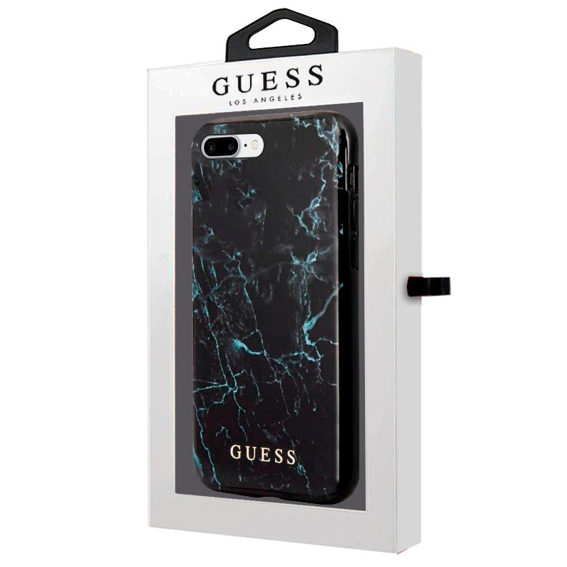 Carcasa COOL para iPhone 6 Plus / IPhone 7 Plus / 8 Plus Licencia Guess Mármol Negro