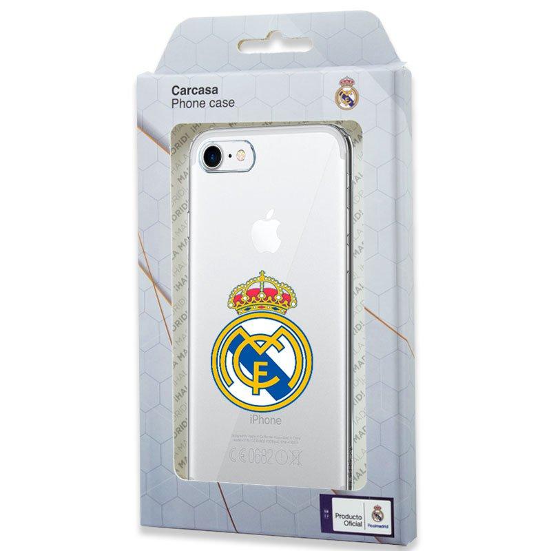 Carcasa COOL para iPhone 7 / 8 / SE (2020) Licencia Fútbol Real Madrid Transparente