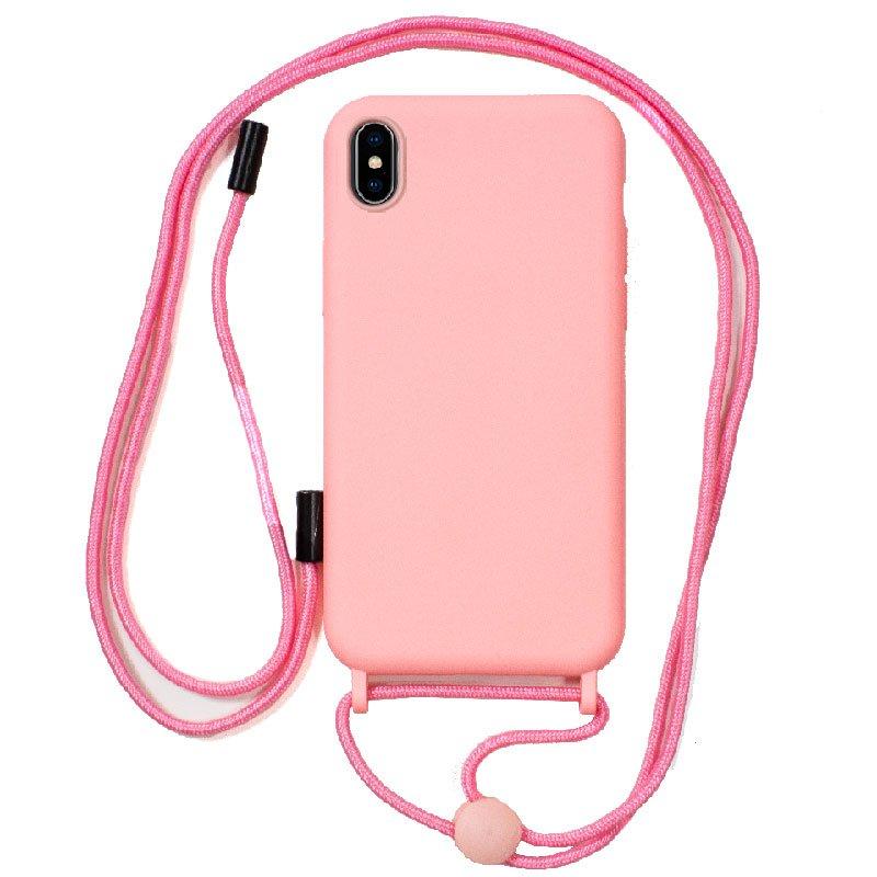 Carcasa COOL para iPhone X / iPhone XS Cordón Liso Rosa