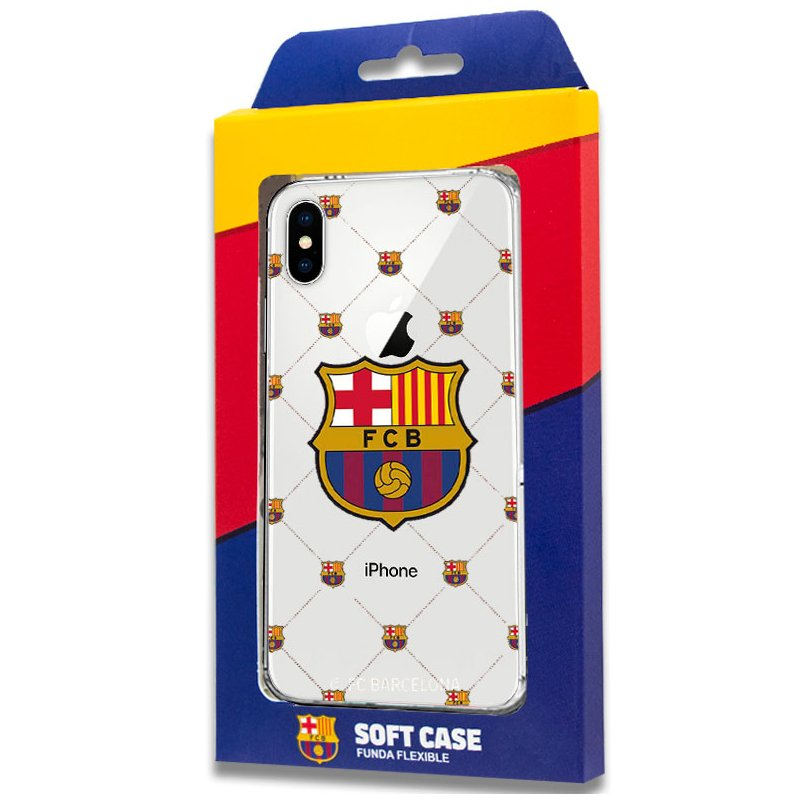 Carcasa COOL para iPhone X / iPhone XS Licencia Fútbol F.C. Barcelona