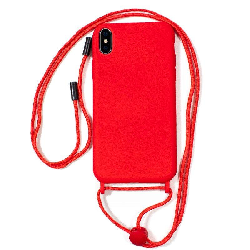 Carcasa COOL para iPhone XS Max Cordón Liso Rojo
