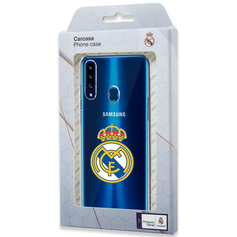 Carcasa COOL para Samsung A207 Galaxy A20s Licencia Fútbol Real Madrid Transparente