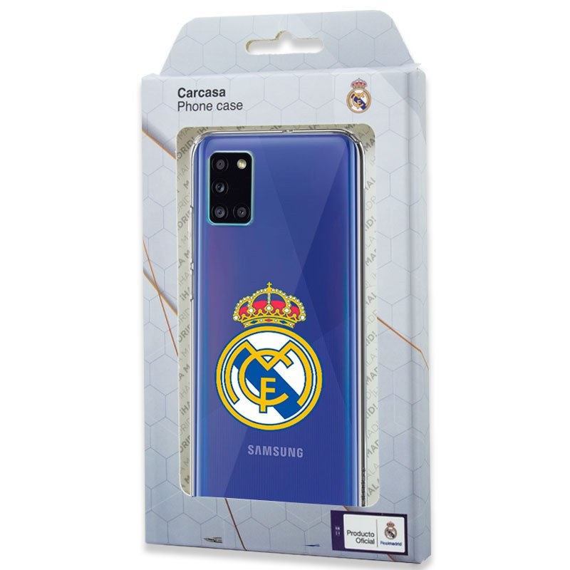 Carcasa COOL para Samsung A315 Galaxy A31 Licencia Fútbol Real Madrid Transparente