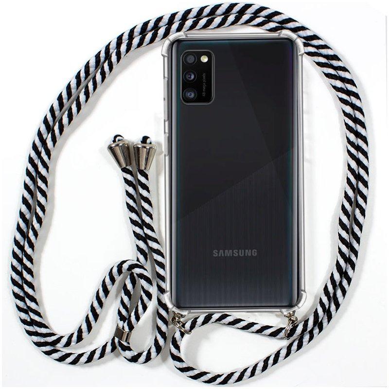 Carcasa COOL para Samsung A415 Galaxy A41 Cordón Blanco-Negro