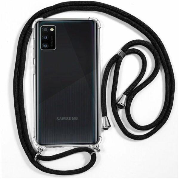 Carcasa COOL para Samsung A415 Galaxy A41 Cordón Negro