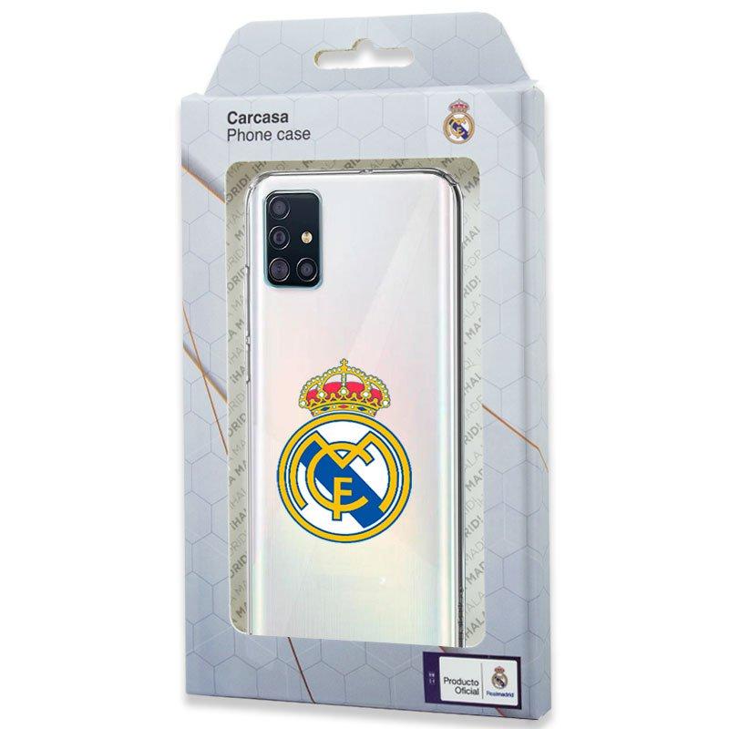 Carcasa COOL para Samsung A515 Galaxy A51 Licencia Fútbol Real Madrid Transparente