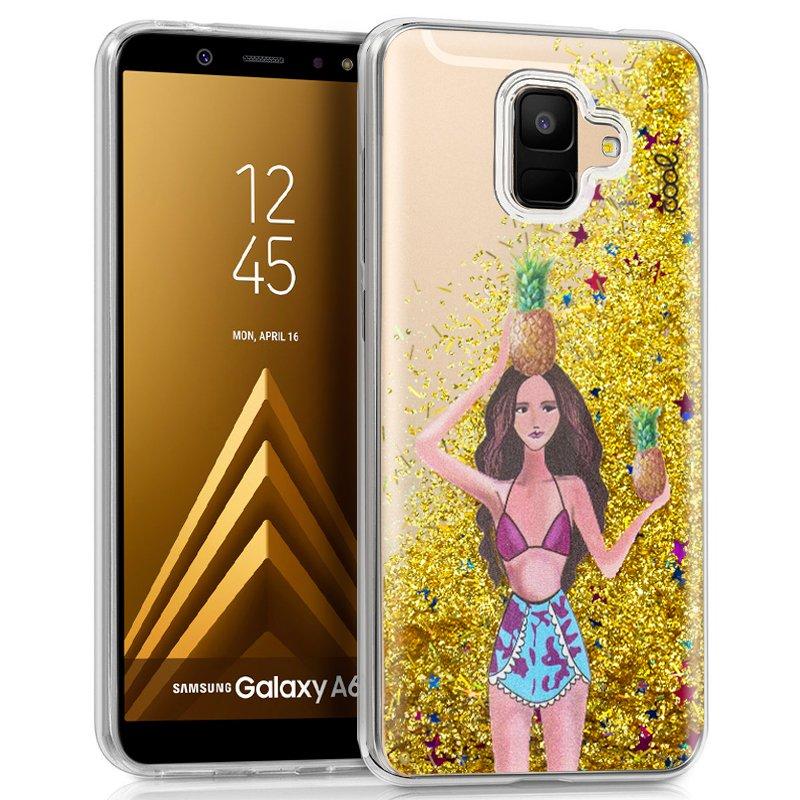 Carcasa COOL para Samsung A600 Galaxy A6 Glitter Piñas