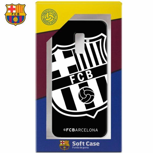 Carcasa COOL para Samsung A605 Galaxy A6 Plus Licencia Fútbol F.C. Barcelona Negro