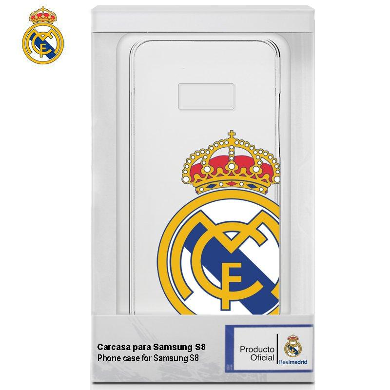 Carcasa COOL para Samsung G950 Galaxy S8 Licencia Fútbol Real Madrid Transparente