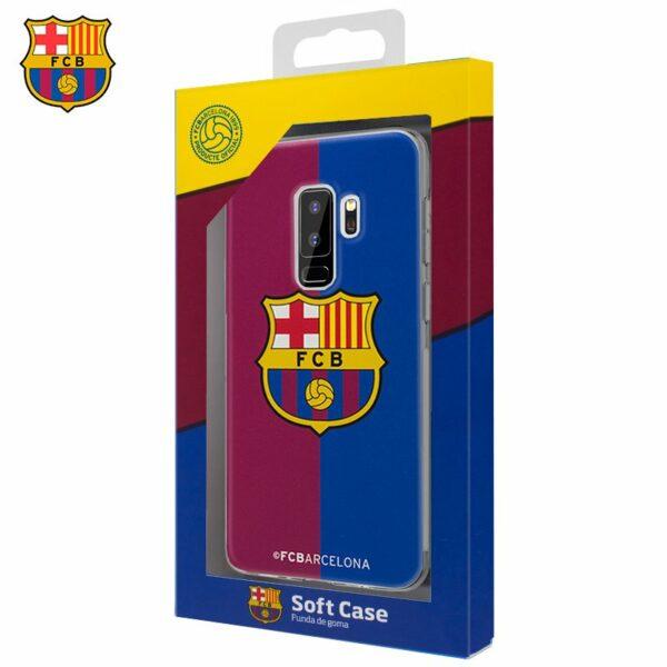 Carcasa COOL para Samsung G965 Galaxy S9 Plus Licencia Fútbol F.C. Barcelona