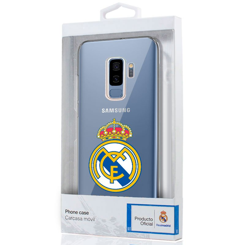 Carcasa COOL para Samsung G965 Galaxy S9 Plus Licencia Fútbol Real Madrid Transparente
