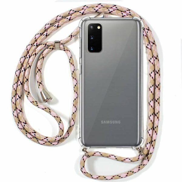 Carcasa COOL para Samsung G980 Galaxy S20 Cordón Rosa-Beige
