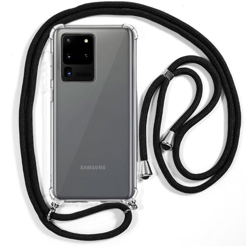 Carcasa COOL para Samsung G988 Galaxy S20 Ultra 5G Cordón Negro