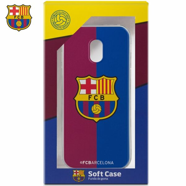 Carcasa COOL para Samsung J330 Galaxy J3 (2017) Licencia Fútbol F.C. Barcelona