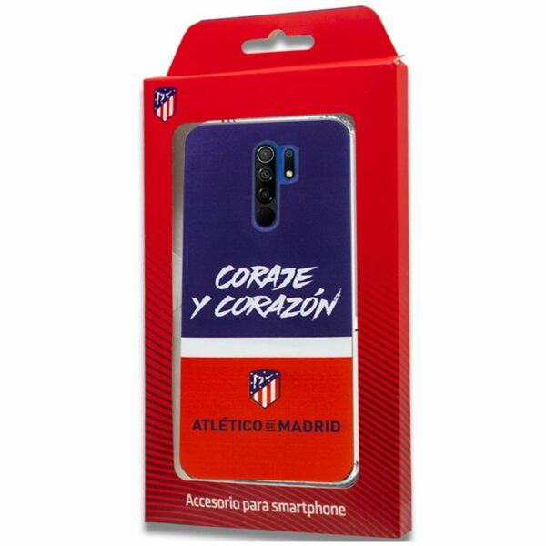 Carcasa COOL para Xiaomi Redmi 9 Licencia Fútbol Atlético De Madrid